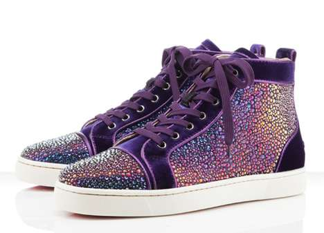 Sparkling-Bright Sneakers - The Christian Louboutin Holiday 2011 Collection Glimmer and Gleam