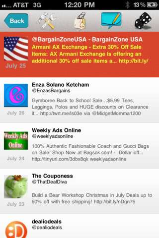 Social Shopping Streams - The Tweetalicious App Aggregates All Your Favorite Deals into One Timeline