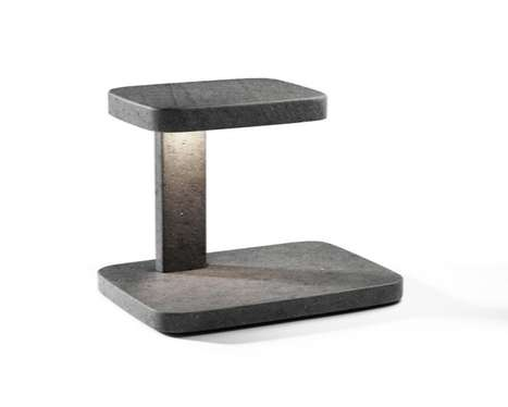Stonehenge-Inspired Lighting - The Piani Lamp Will Look Monumental on Your Desk