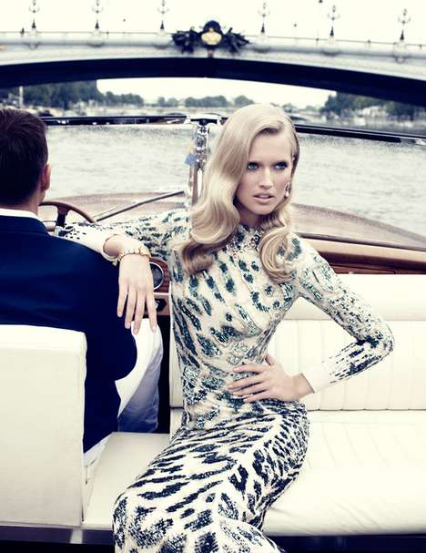 Clive Owen and Toni Garrn