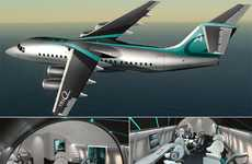 Spy-Worthy Work Cabins (UPDATE) - Design Q Unveils the Bond-Inspired Avro Business Jet