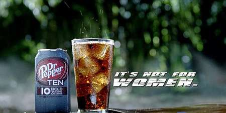 Male-Focused Diet Drinks - Dr Pepper Ten Campaign Gives Manliness to Calorie-Counting