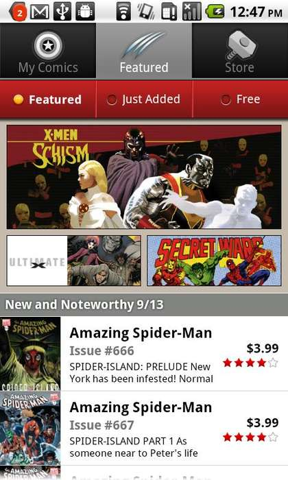 Marvel Comics App