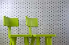 Tag-Team Cafe Chairs - The Corner Chair is Designed Specifically for Twosomes