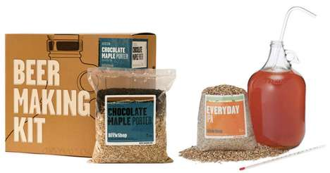 Homemade Distillery Branding - The Brooklyn Brew Shop 'Beer Making Kit' is Refreshingly Fun