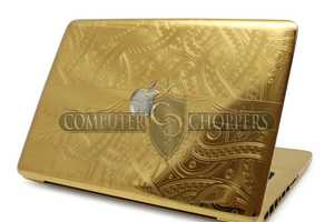 The Computer Choppers Gold & Diamond Macbook Pro is Ultra Laptop Luxury