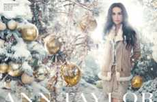 Winter Wonderland Fashion Ads - The Ann Taylor Holiday 2011 Campaign Stars Demi Moore