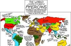 Surprisingly Accurate Maps - The World According to Americans Defies Stereotypes