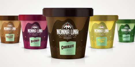 Nonna Lina Ice Cream Packaging