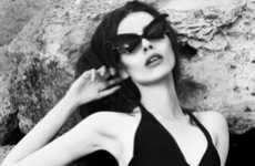 Bat-Like Sunglasses - Anna Zasada by Jacek Zajac is Subtly Sinister and Very Sensual