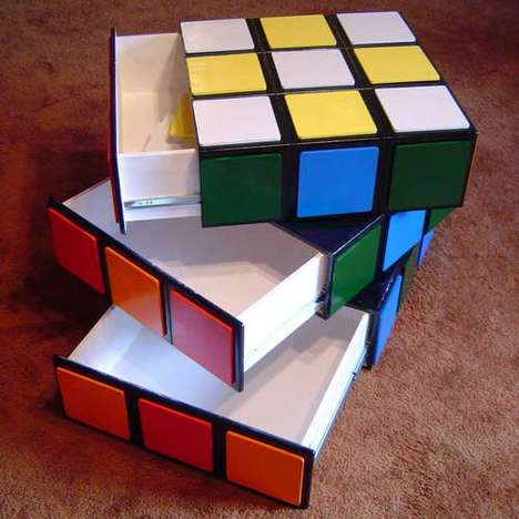 DIY Puzzling Furniture - Learn to Make the Rubik's Cube Drawer for a Geeky Feature in the Home