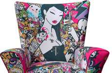 Vibrantly Illustrated Seats - The ClickforArt Limited Edition Chairs are Artistically Hipster