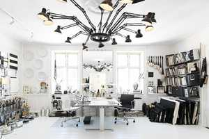 The Tenka Gammelgaard Workplace is Black and White