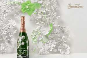 The Perrier-Jouet Paper Print Ad is Creatively Catered