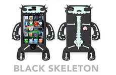 Creepy Creature Skeleton Cases - The Robotector Silicone iPhone 4 Skin Gives Your Gadget Limbs