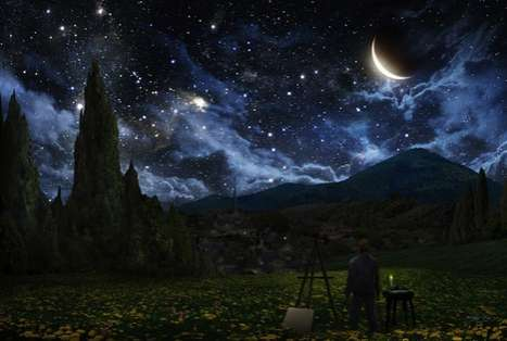 Painter-Tribute Photography - Starry Night by Alex Ruiz Pays Homage to Vincent van Gogh