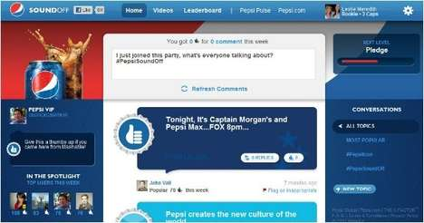 Talent Show Social Networking - Pepsi 'Sound Off' & Pulse Sites Help to Promote 'The X Factor'