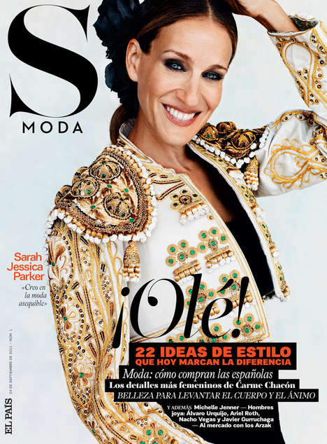 Matador-Style Celeb Shoots - Sarah Jessica Parker Graces the Cover of the S Moda Premier Issue