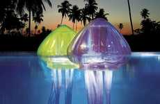 Luminous Aquatic Life Decor - Ocean Art Light-Up Jellies Lights Up the Pool Magnificently