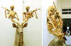 Fearsome Golden Antlers - The 'Evolution Will Be Fabulous' Exhibit Features Decked Out Taxidermy