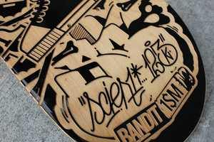 123KLAN Engraved Skateboards Combine Street Art with Graffiti Style