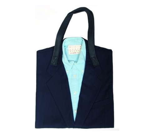 Upcycled suit tote