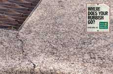 "Rippling Concrete Campaigns - Keep Australia Beautiful Asks ""Where Does Your Rubbish Go?"""