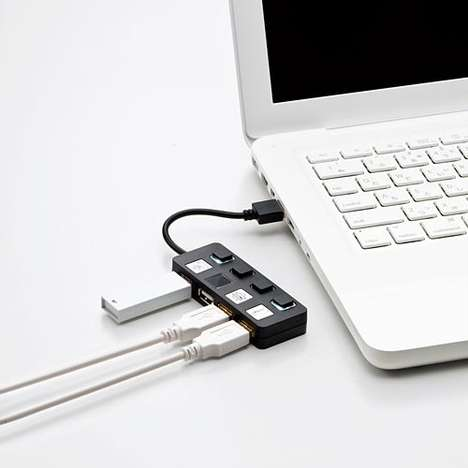 Handy USB Hubs - Elecom U2H-YS4B Offers a Convenient Four-Way Connection