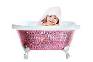 The Lori Gardner Swarovski-Studded Baby Bathtub is Opulence for Infants