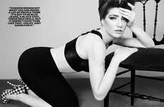 Retro Pin-Up Styles - The Nicola Roberts Pop Tart Shoot Features Daring High-Waisted Fashions