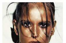 Brazen Bronzed Beauty - Vogue Paris Features a Slew of Supermodels Up Close