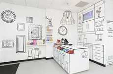 Sketched Sweets Shops - The Candy Room by Red Design Group is Graphically Playful