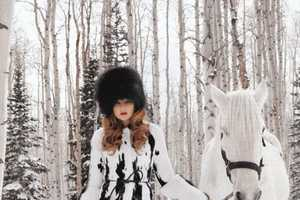 Eniko Mihalik and Terry Richardson Play with Snow for Harper's Bazaar