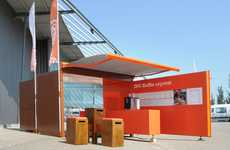 Vibrant Pop-Up Cafes - The ING Express Mobile Coffee Bar is an Eye-Catching Modular Establishment