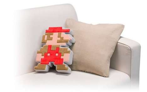 Pixelated Mario Pillow