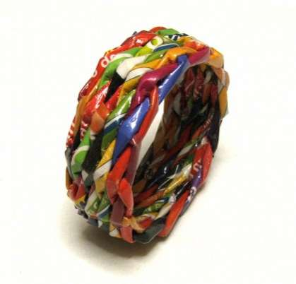 Candy Wrapper Jewelry - Polish makkireQu Repurposes Waste as Fashion Baubles