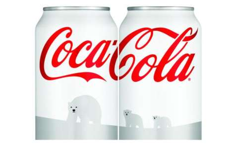 white coca-cola cans