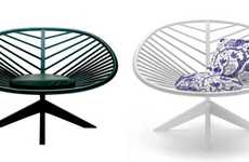 Minimalist Leaf-Inpired Furniture - The Bjorn Dahlstrom Chairs Has a Precise Structure