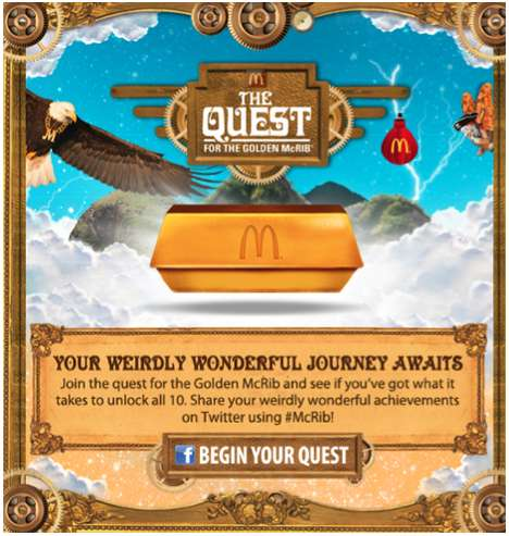 Virtual Sandwich Adventures - Look for a Golden McRib in the McDonald's 'The Quest' Game