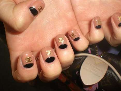 Chanel Half Moon Nails