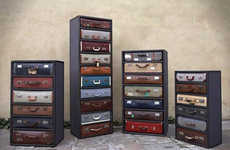 Repurposed Luggage Furniture - James Plumb Design Transforms Discarded Suitcases into Drawers