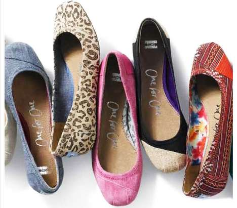 Chic Charitable Shoes - The TOMS Ballet Flats Spring Collection is for the Girly Girls