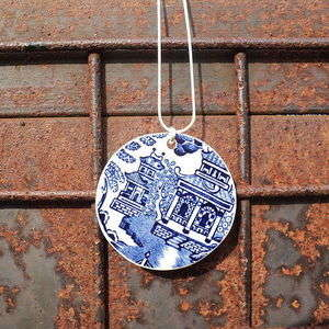 Plunging Porcelain Necklaces