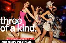Candid Partying Campaigns - The Grand Casino Belgrade Ads Capture the Essence of Fun
