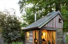 Recycled Yard Structures - Backyard House's Beauty Belies in its Building Material of Discarded Wood