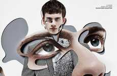 Damien Blottiere for VMAN Presents Cut-and-Paste Images