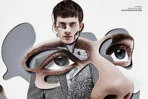 Damien Blottiere for VMAN Presents Cut-and-Paste Images