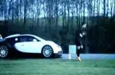 Ronaldo Races Bugatti