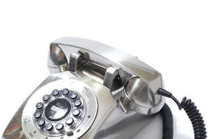 The Silver Dreyfuss 500 Desk Phone