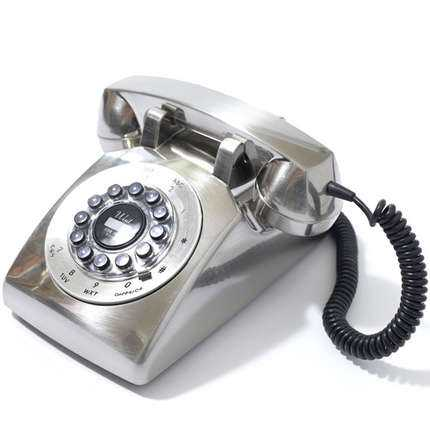 Newstalgia Phones - The Silver Dreyfuss 500 Desk Phone